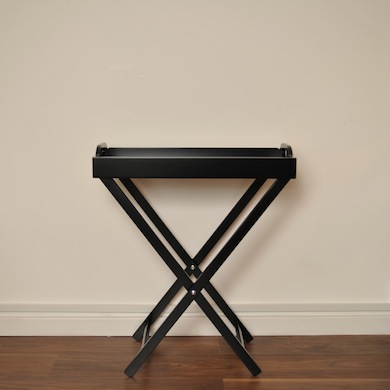 Black Butler Tray Table Home