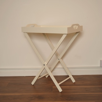 Amy S Attic Butler S Tray Table Cream